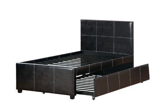 Affordable platform twin bed w/ trundle