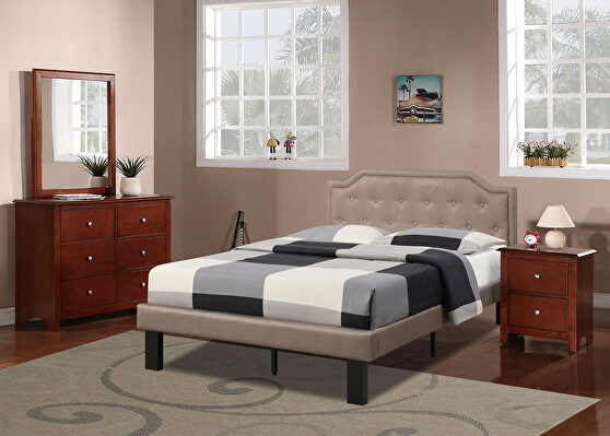 Brown polyfiber twin size bed