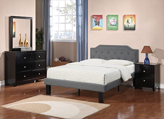 Gray polyfiber twin size bed