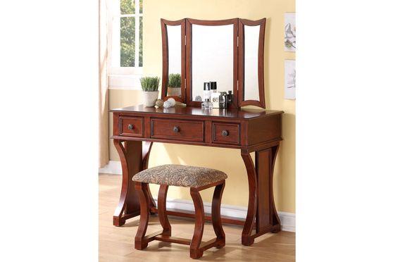 Modern cherry vanity w/ matching stool