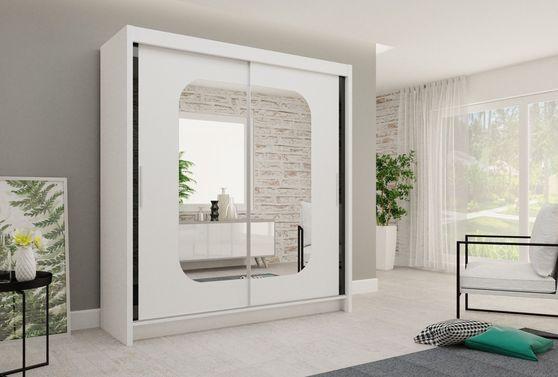 80-inch sliding mirrored doors wardrobe/closet