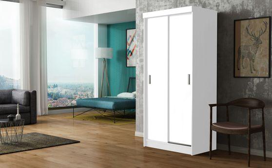 White finish closet with storage/drawers