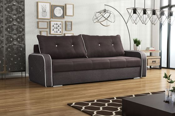 Soft sleeper sofa w/ loose back & storage