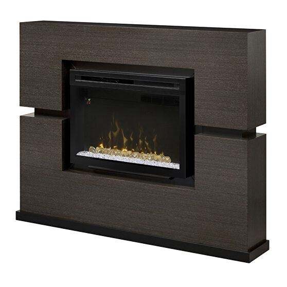 Dimplex mantel electric fireplace with logs
