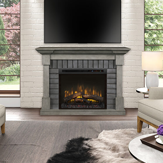 Dimplex electric fireplace mantel with logs