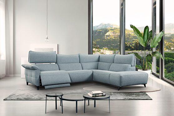Gray sectional sofa w/ optional swivel chair