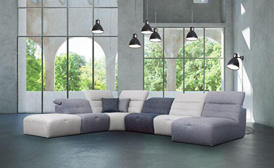 Stylish contemporary modular sectional sofa