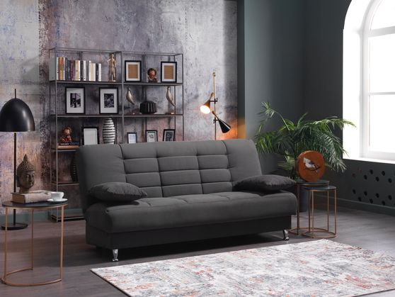 Modern affordable gray fabric sleeper sofa bed