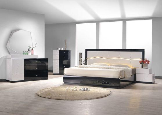 Black/lt. gray lacquer king size 5pcs set