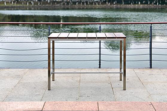 Stone indoor/outdoor bar table