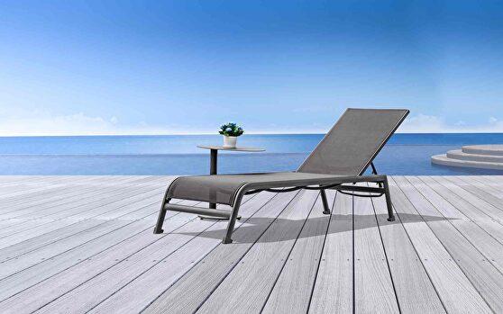 Sunset indoor/outdoor chaise lounge, taupe aluminium