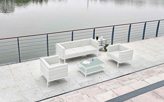 Angelina set includes two chairs, sofa and coffee table.