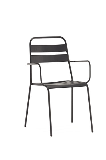 Belle outdoor gray dining armchair set of 4