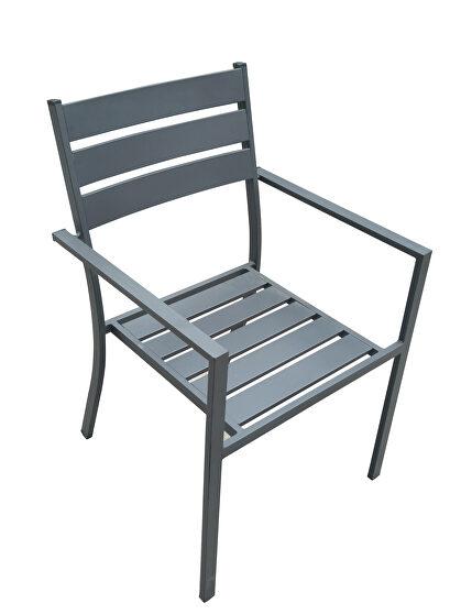 Denver outdoor gray dining armchair set of 4