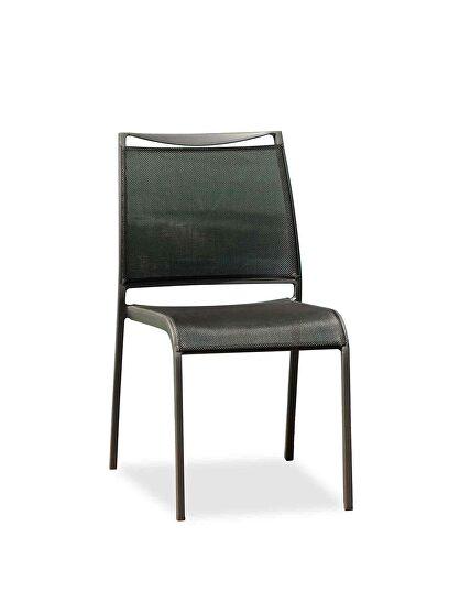 Aloha indoor/outdoor dining chair gray aluminium frame