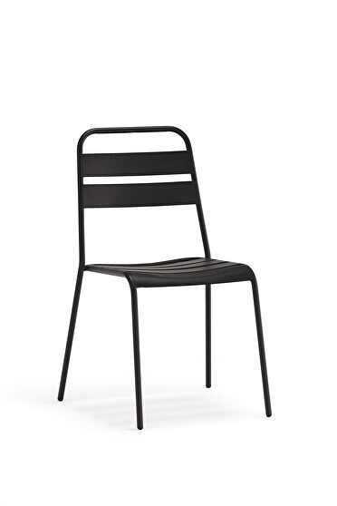 Belle indoor/outdoor dining chair, gray aluminium frame