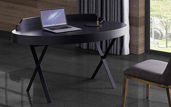 Oliver desk, gray lacquer
