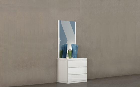 Anna dresser single high gloss white
