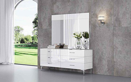 Diva dresser double high gloss white