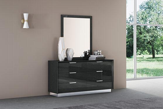 Navi dresser double high gloss gray