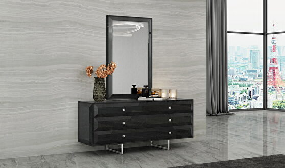Abrazo dresser, high gloss dark gray