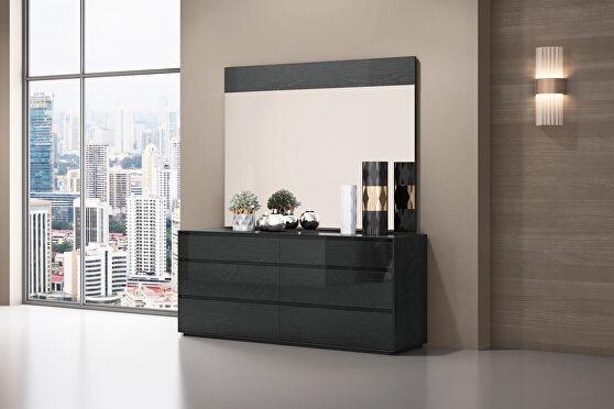 Malibu dresser high gloss gray