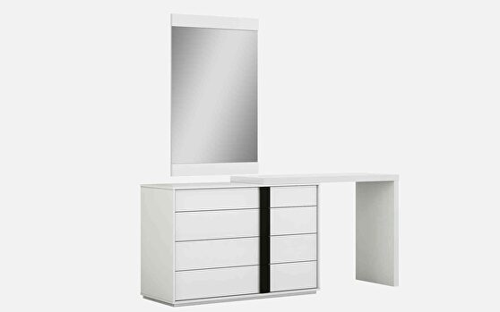 Kimberly single and double dresser extension white