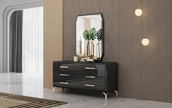 Los angeles double dresser, high gloss gray