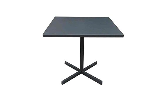 Indoor/outdoor folding square dining table in gray steel