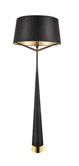 Floor lamp black carbon steel and fabric