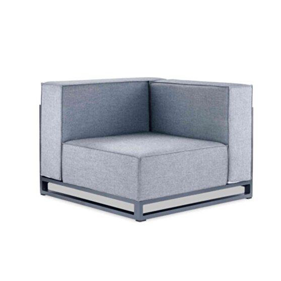 Indoor/outdoor modular armless corner gray