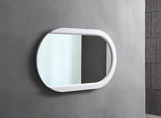 Mirror, matt white frame