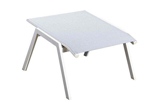 Indoor/outdoor footrest white aluminium