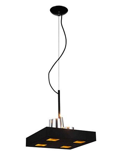 Pendant lamp black stainless steel