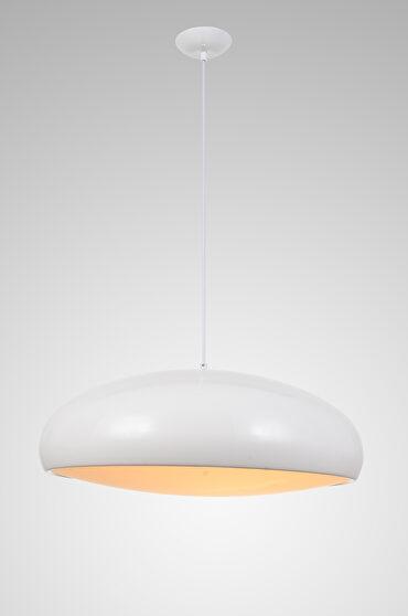 Pendant lamp white aluminium