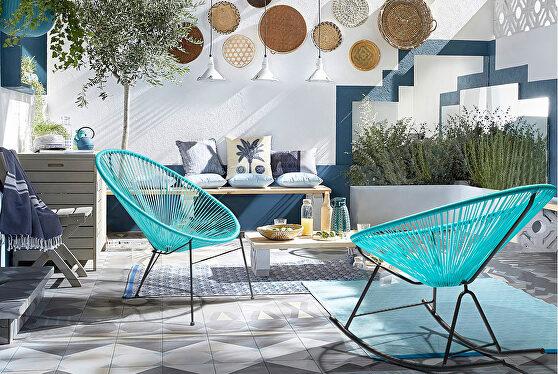 Rocking chair blue