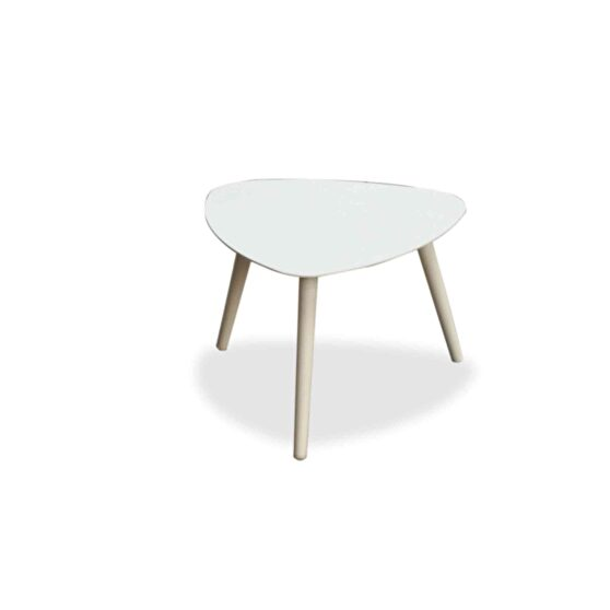Indoor/outdoor small side table kidney style