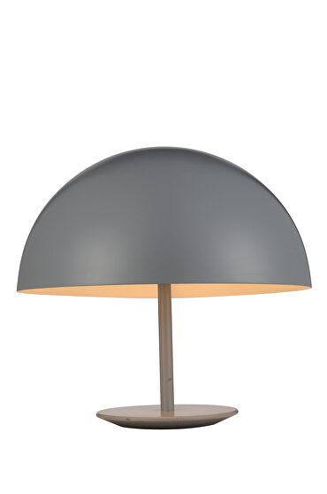 Table lamp gray aluminium