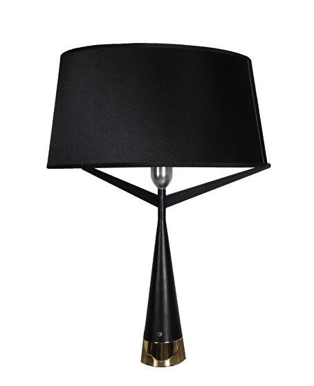 Table lamp black carbon steel base
