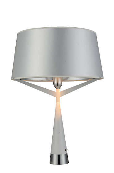 Table lamp white carbon steel and fabric