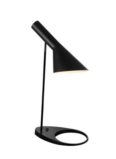 Table lamp black metal