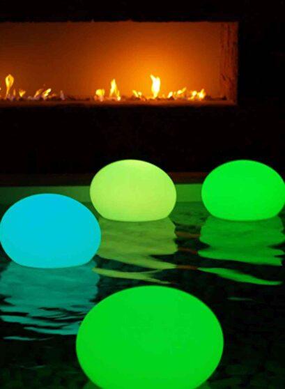 Led floating oval shape lamp