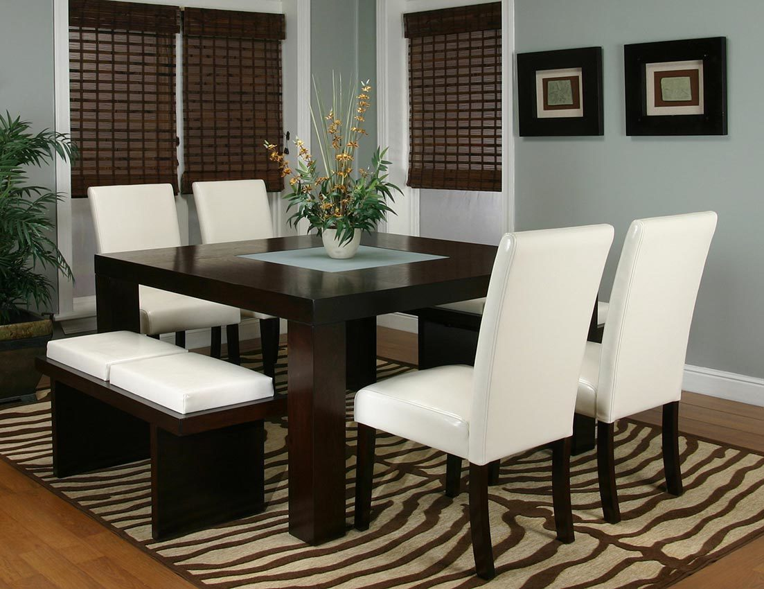Pleasing Kemper Ivory Table 4 Chairs 2 Benches Ncnpc Chair Design For Home Ncnpcorg