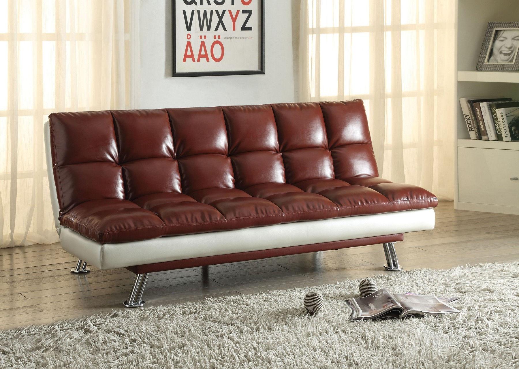Baka Dark Red Sofa Bed