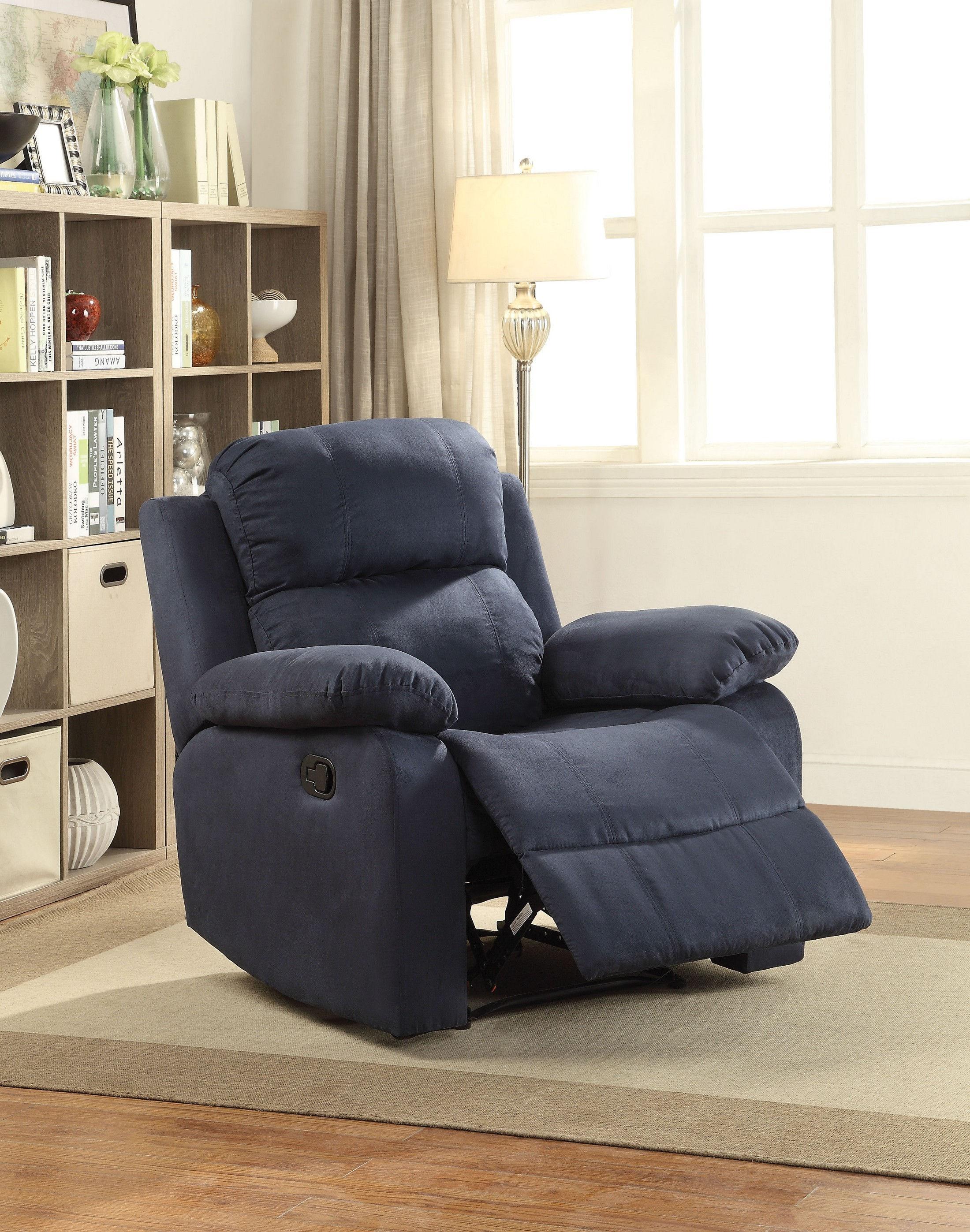 Parklon Blue Chair 59476 Acme Corporation Recliner Sofas