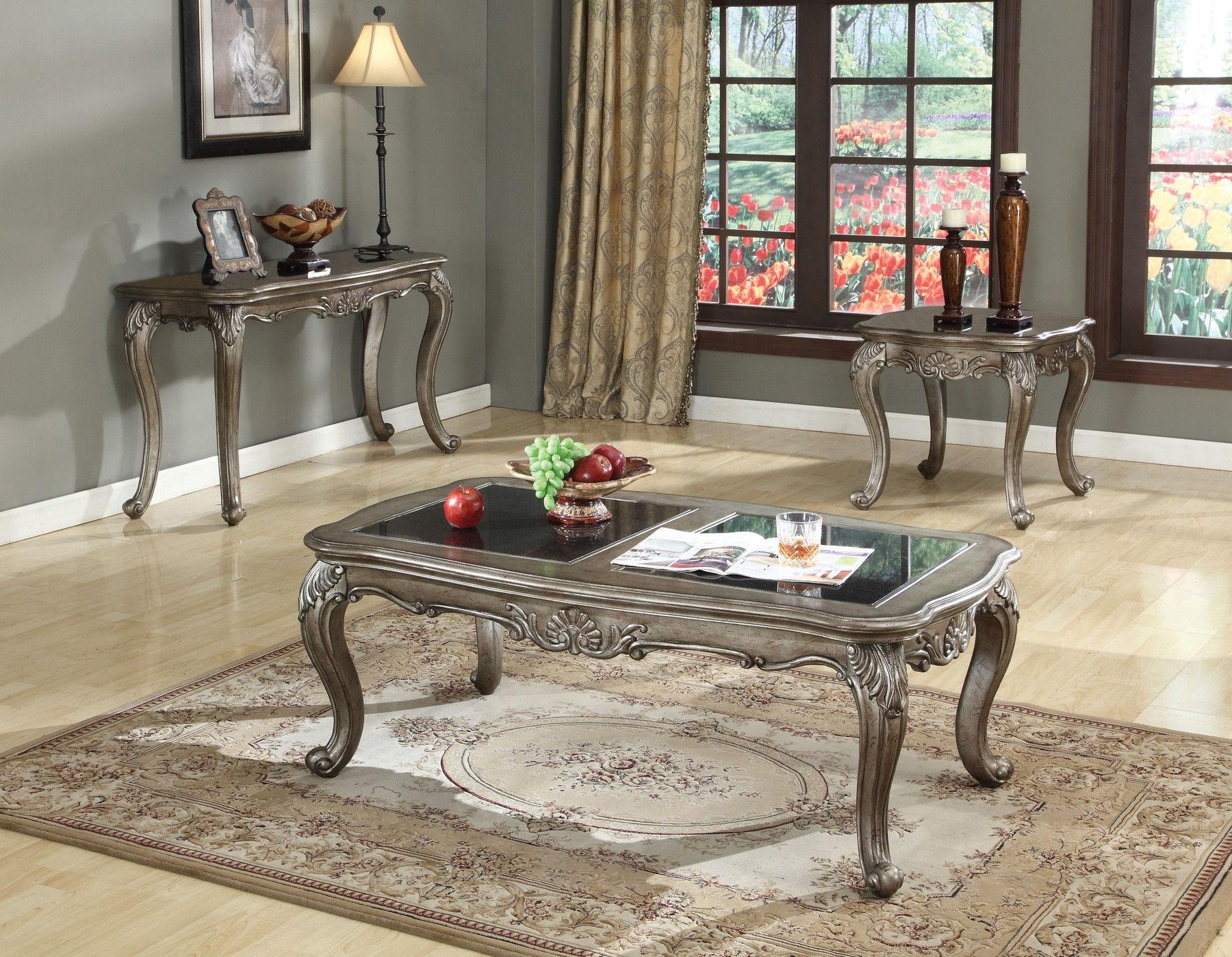 Chantelle Granite Top Coffee Table