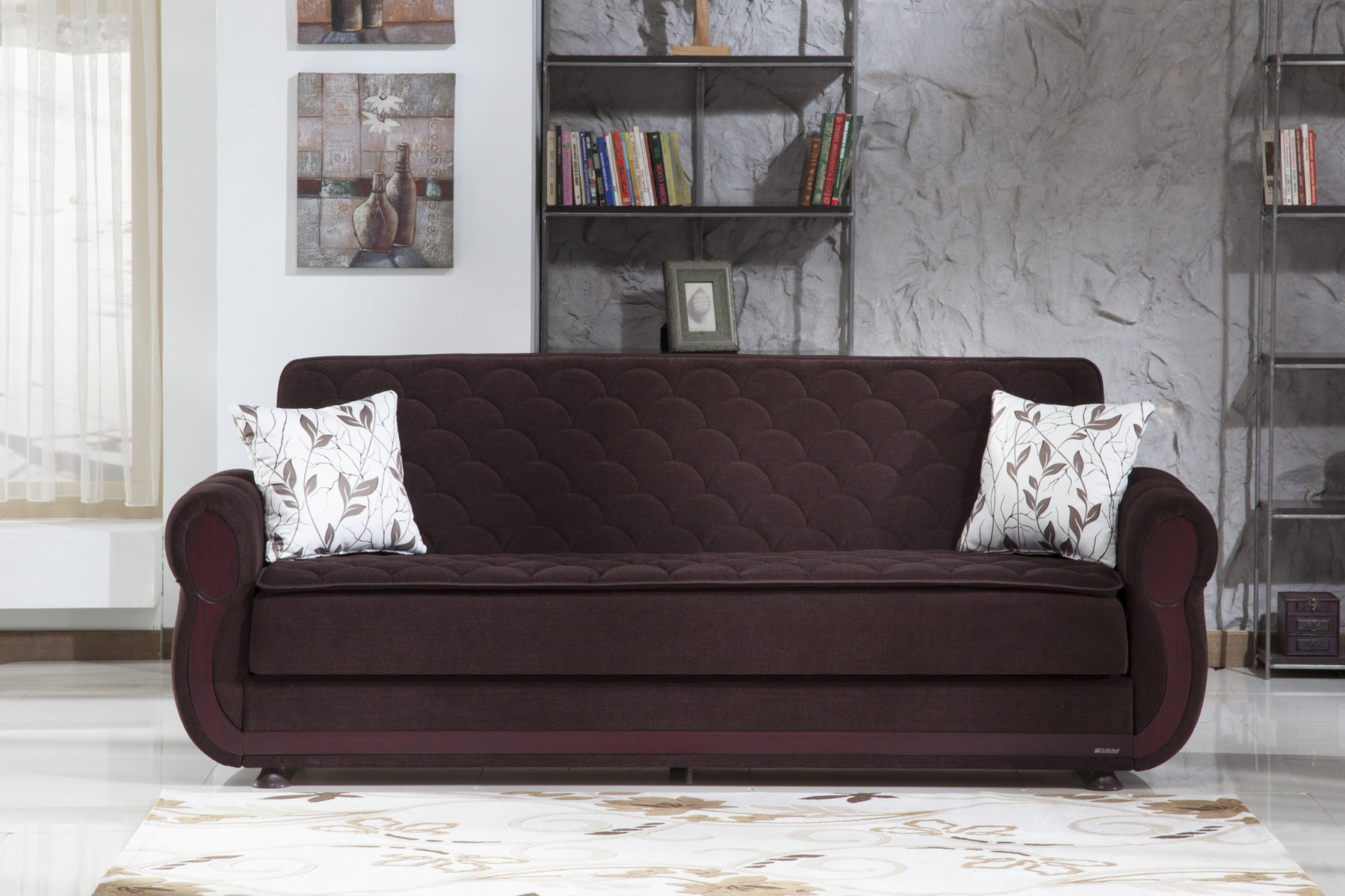 Argos Colin Brown Sofa Bed 5532d