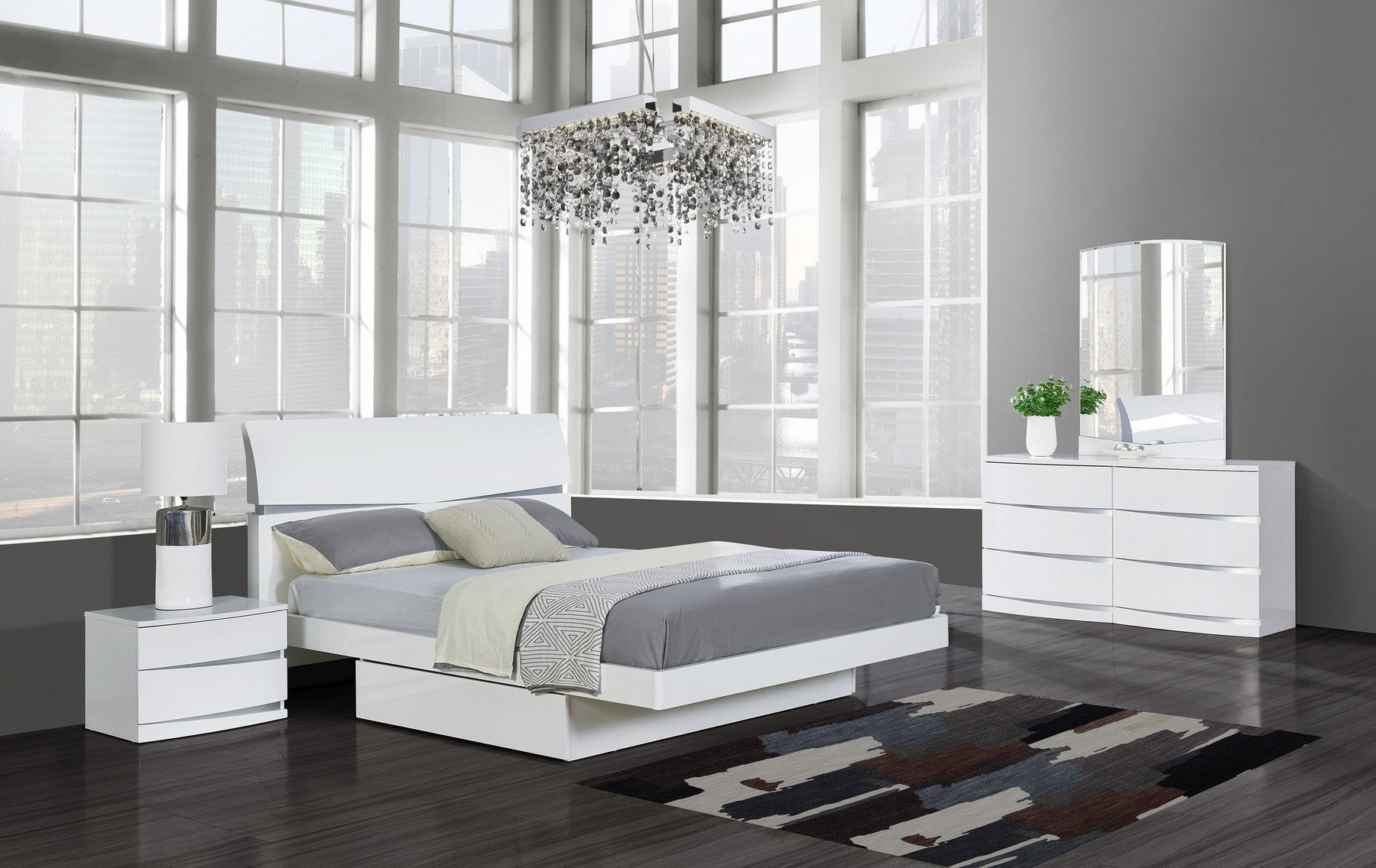 Aurora White Queen Size Bed Aurora Global Furniture Usa Modern Beds Comfyco Furniture