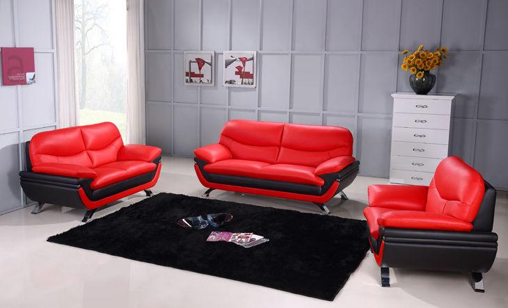 Jonus Red Black Sofa Jonus Beverly Hills Furniture Leather
