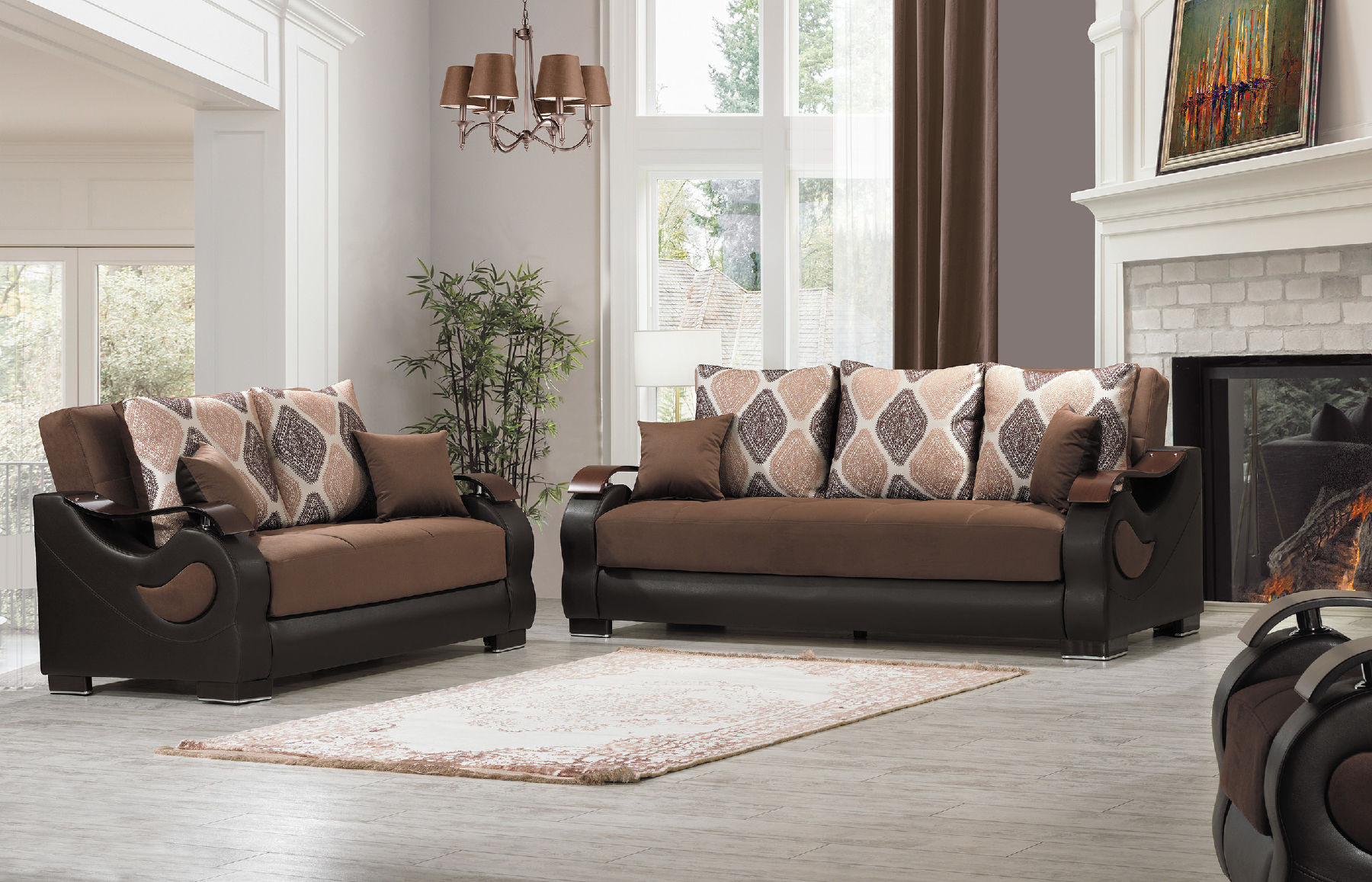 Fabulous Metro Plex Brown Sofa Gmtry Best Dining Table And Chair Ideas Images Gmtryco